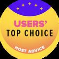 Dado para empresas de hospedagem Web do top 10 com a classificação de usuário mais alta.