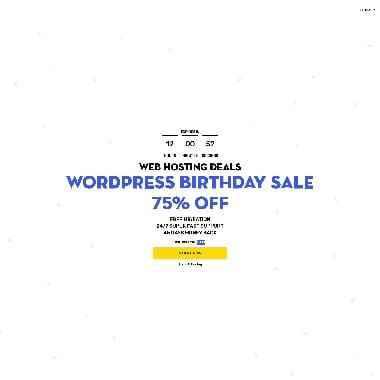 FastComet HomePage Screenshot