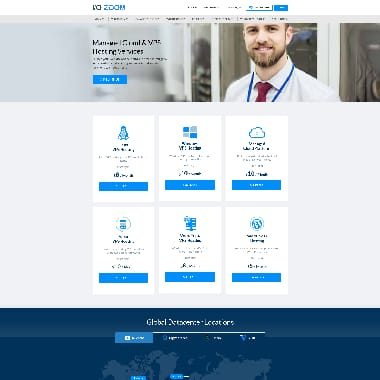 IO Zoom HomePage Screenshot