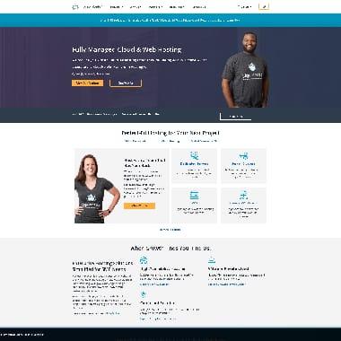LiquidWeb HomePage Screenshot