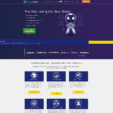 GoogieHost HomePage Screenshot